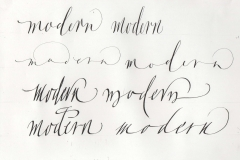 Italic variations with pointed & square nibs