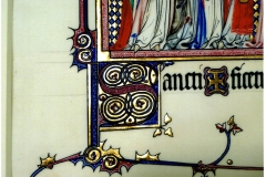 Detail from my facsimile of a folio from the Metz Pontifical for the Fitzwilliam Museum in Cambridge