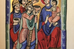 Visitation of the Magi - This is a copy from a Cotton Manuscript in the Fitzwilliam Museum library