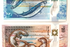 Royal Bank of Scotland polymer banknotes: Scottish secretary hand calligraphy for poetry by Sorley MacLean (£5), 2015 and Norman MacCaig (£10), 2017