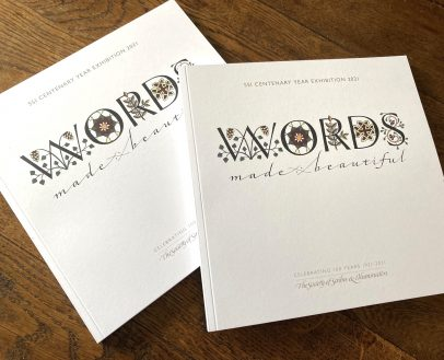 Two copies of the SSI Words Made Beautiful catalogue